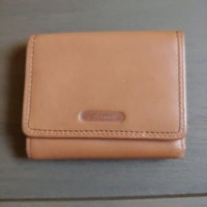 Fossil Tan Trifold Leather Wallet